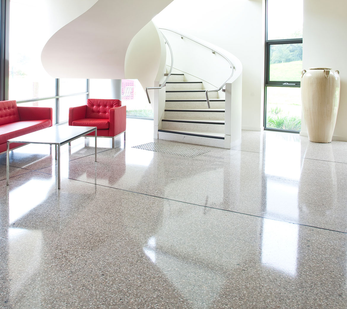 CCS Apollo used in this high gloss polished floor