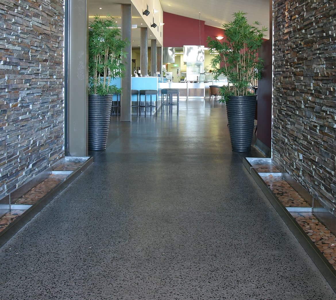 Pacific Pines polished concrete floor using CCS Ghost Gum