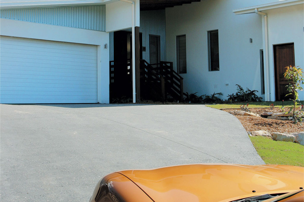 Five things to consider when choosing a full depth coloured concrete driveway