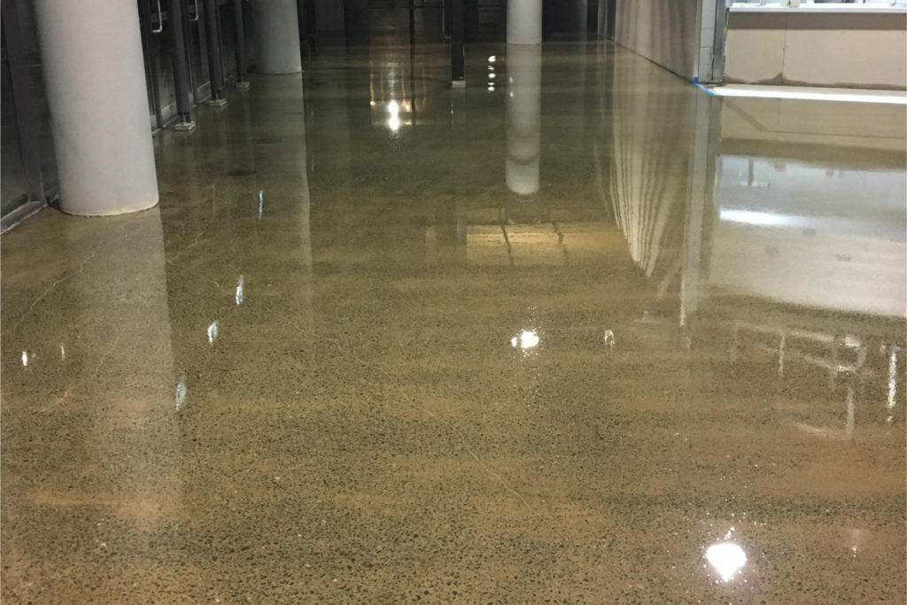 Concrete subfloor preparation